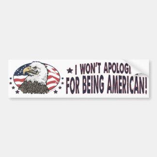 Symbolischer Amerikaner Eagle Autosticker