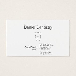 Symbolischer Zahn Visitenkarte