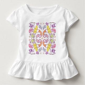 Symmetrie Pastelcolor niedliche Katzen Kleinkind T-shirt