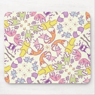 Symmetrie Pastelcolor niedliche Katzen Mousepad