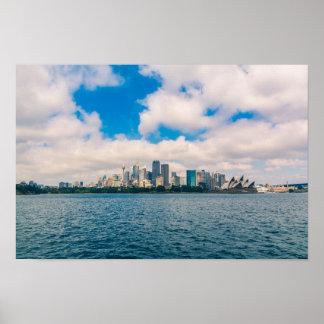 Symmetrische Ansicht im Sydney-Stadtzentrum Poster