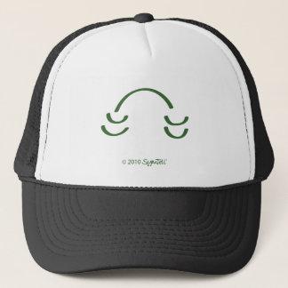 SymTell grünes unterhaltenes Symbol Truckerkappe