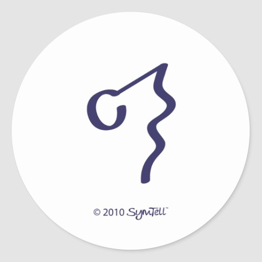 SymTell lila ignorantes Symbol Aufkleber