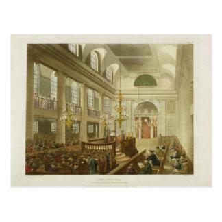 Synagoge, Herzöge Place, Houndsditch, von Ackerman Postkarte