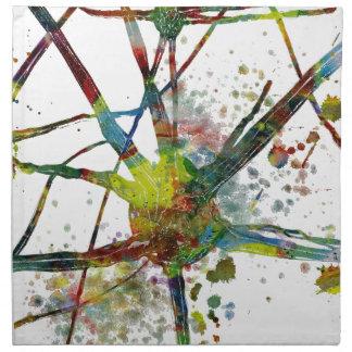 Synapse-medizinisches abstraktes Geschenk Serviette