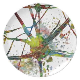 Synapse-medizinisches abstraktes Geschenk Teller