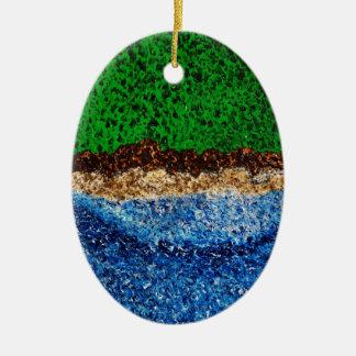 """""""Synchronicity-Set 2 (hochauflösend) """" Ovales Keramik Ornament"""