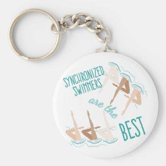 Synchronisierte Schwimmer Schlüsselanhänger