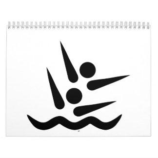 Synchronisierter Schwimmer Kalender