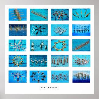 Synchronisierungs-Schwimmen Poster