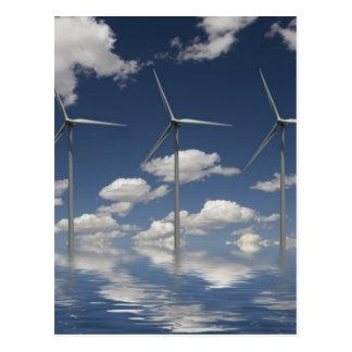 Syncronised Windkraftanlagen Postkarte