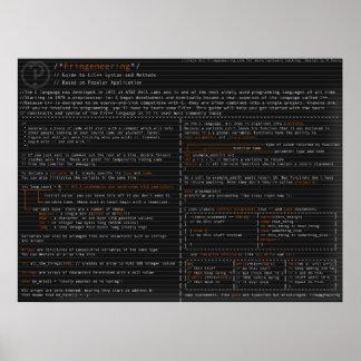 Syntax und Methoden im C langauge Poster