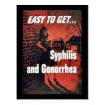Syphilis und Gonorrhöe Postkarten