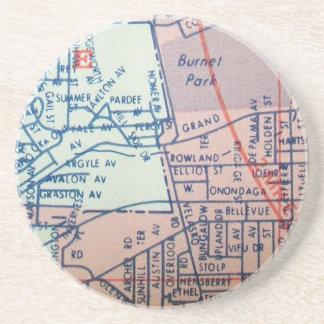 SYRAKUS, NY Vintage Karte Untersetzer