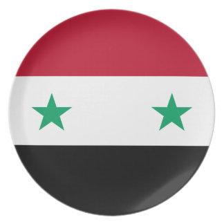 Syrien-Flagge Melaminteller