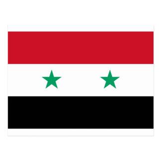 Syrien-Flagge Postkarte