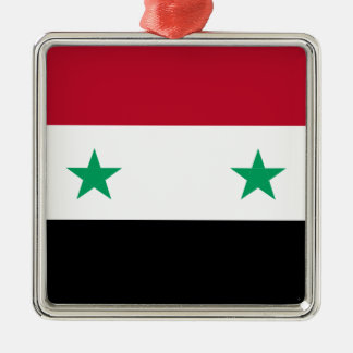 Syrien-Flagge Silbernes Ornament