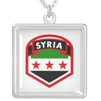 Syrien-Flagge Versilberte Kette