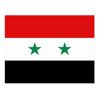 Syrien-Flaggen-Postkarte Postkarte