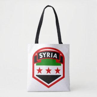 Syrien-Flaggen-Schild Tasche
