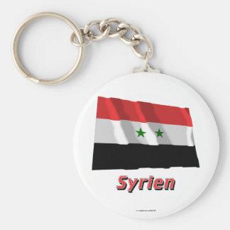 Syrien Fliegende Flagge MIT Namen Standard Runder Schlüsselanhänger