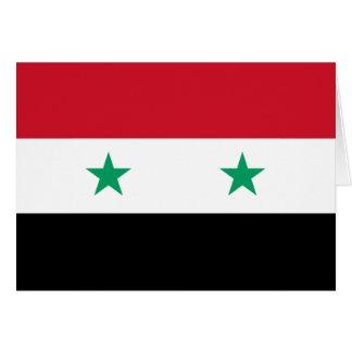 Syrien-Grußkarte Karte