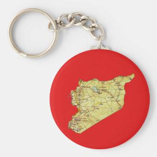 Syrien-Karte Keychain Schlüsselanhänger
