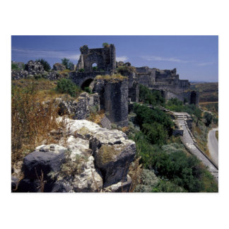 Syrien, Marqab Schloss, Kreuzfahrer ziehen sich Postkarte