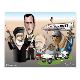 Syrien oder Fehlschlag Postkarte
