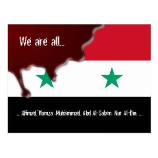 Syrien-Revolutions-arabischer Frühling alle sind Postkarte