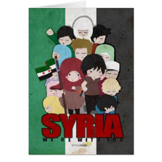 SYRIEN - wir sind mit Ihnen Karte