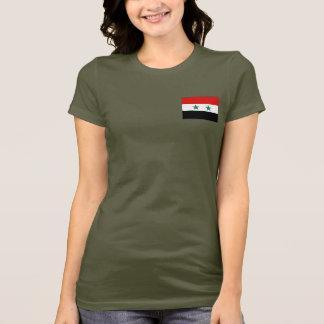 Syrienflaggen- und -karten-DK-T - Shirt