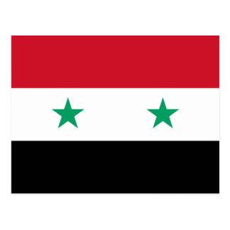 Syrische Flagge Postkarte