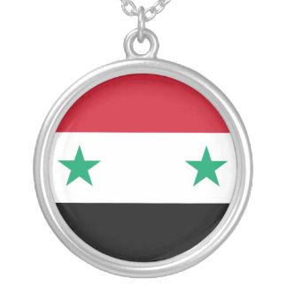 Syrische Flagge Versilberte Kette