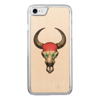 Syrischer Flaggen-Stier-Schädel Carved iPhone 8/7 Hülle
