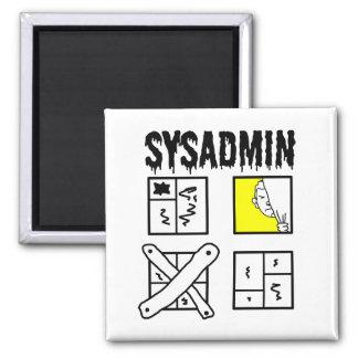 Sysadmin - Systemverwalter Quadratischer Magnet