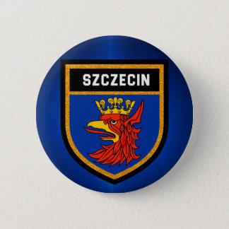 Szczecin Flagge Runder Button 5,1 Cm