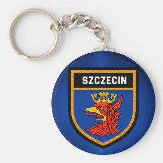 Szczecin Flagge Schlüsselanhänger