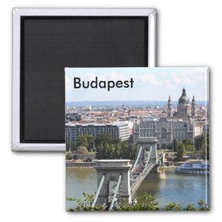 Szechenyi Kettenbrücke, Budapest, Ungarn, Buda… Quadratischer Magnet