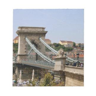 Széchenyi Kettenbrücke, Budapest, Ungarn Notizblock