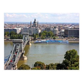 Szechenyi Kettenbrücke, Budapest, Ungarn Postkarte
