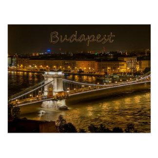 Szechenyi Kettenbrücke, Postkarte Budapests,