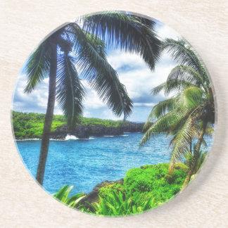 Szene des Hawaiianer-IMG_1122 4 Sandstein Untersetzer