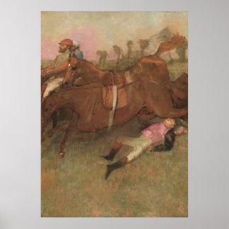 Szene Edgar Degass | vom Steeplechase Poster