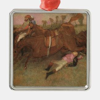 Szene Edgar Degass | vom Steeplechase Silbernes Ornament