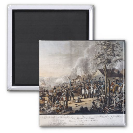 Szene nach dem Kampf von Waterloo Kühlschrankmagnet