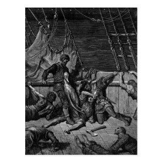 Szene 'vom Raureif des alten Mariner Postkarte