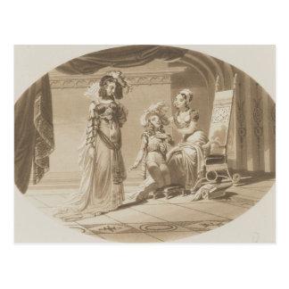 Szene 'von der Abduktion vom Seraglio Postkarte