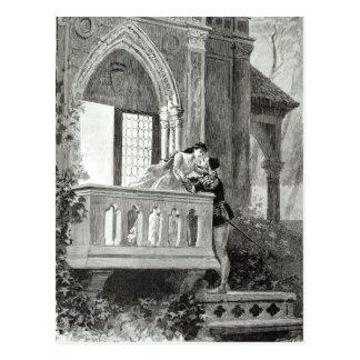 Szene von Tat II von Romeo und von Juliet Postkarte