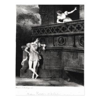 Szene von Tat III 'von Romeo und von Juliet Postkarte